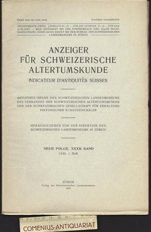 Anzeiger .:. Schweizerische Altertumskunde 32/2