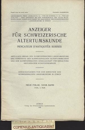 Anzeiger .:. Schweizerische Altertumskunde 32/3