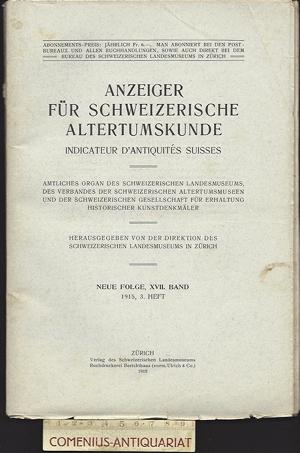 Anzeiger .:. Schweizerische Altertumskunde 17/3