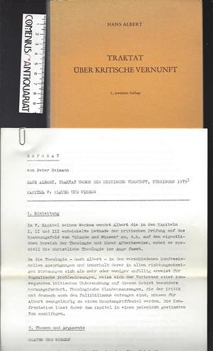 Albert .:. Traktat ueber die kritische Vernunft