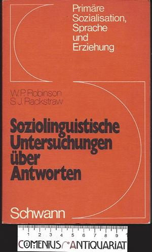 Robinson .:. Soziolinguistische Untersuchungen ueber Antworten