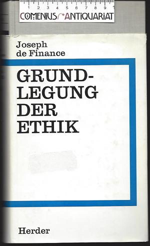 Finance .:. Grundlegung der Ethik