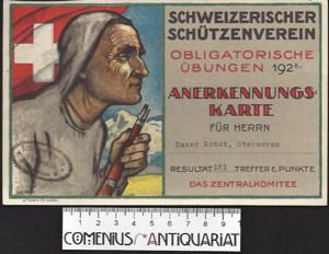 Anerkennungskarte .:. Schweizerischer Schuetzenverein