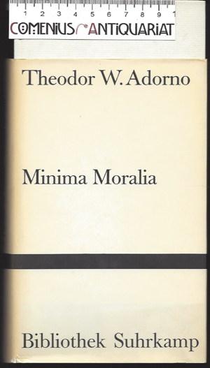 Adorno .:. Minima moralia