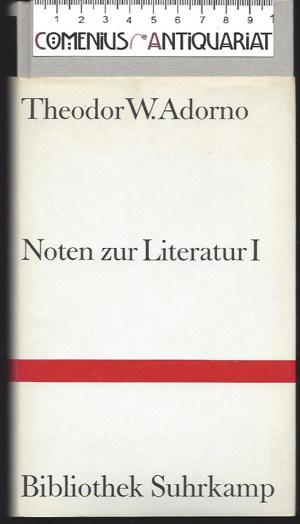 Adorno .:. Noten zur Literatur [1]