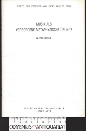 Schulze .:. Musik als verborgene metaphysische Uebung?