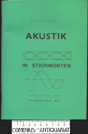 Peter .:. Akustik in Stichworten