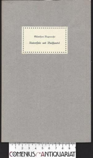Ruprecht .:. Universitaet und Buchhandel