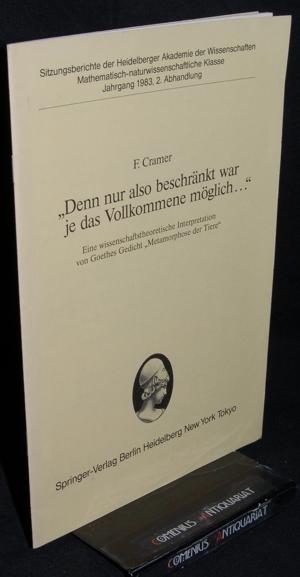 Cramer .:. Interpretation von Goethes Gedicht