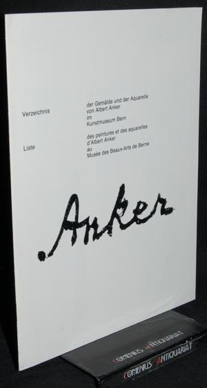 Albert Anker .:. Verzeichnis der Gemaelde und der Aquarelle